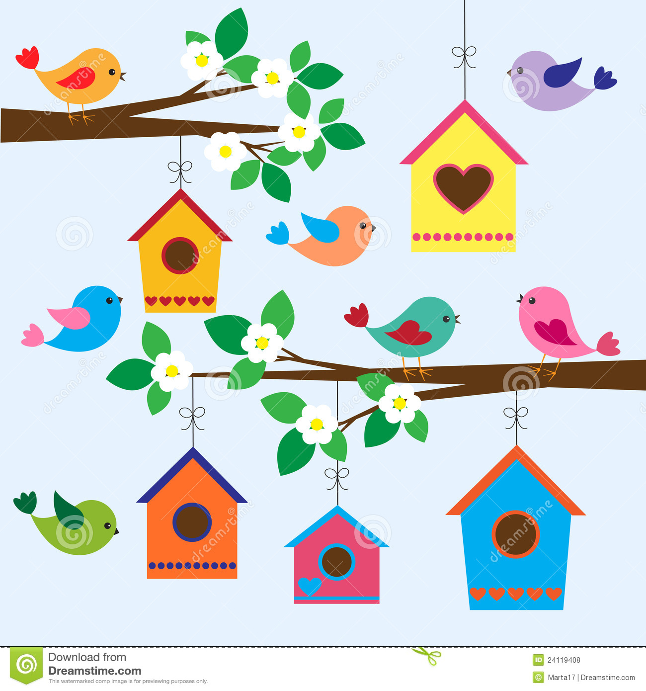 Birdhouses In Spring Royalty Free Stock Photos Image