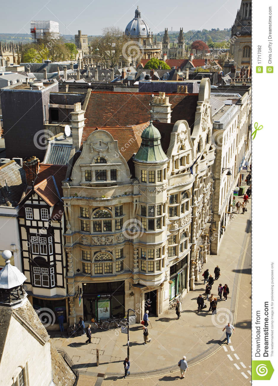 Birds Eye View Of The City Of Oxford In England Editorial
