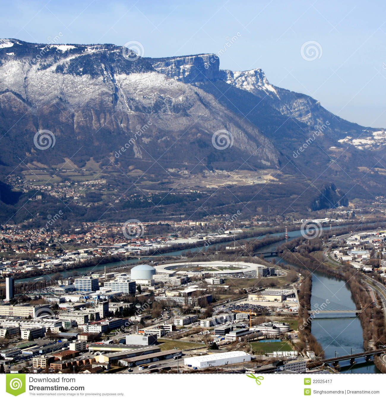 birds eye view of grenoble france royalty free stock photography image 22025417. Black Bedroom Furniture Sets. Home Design Ideas