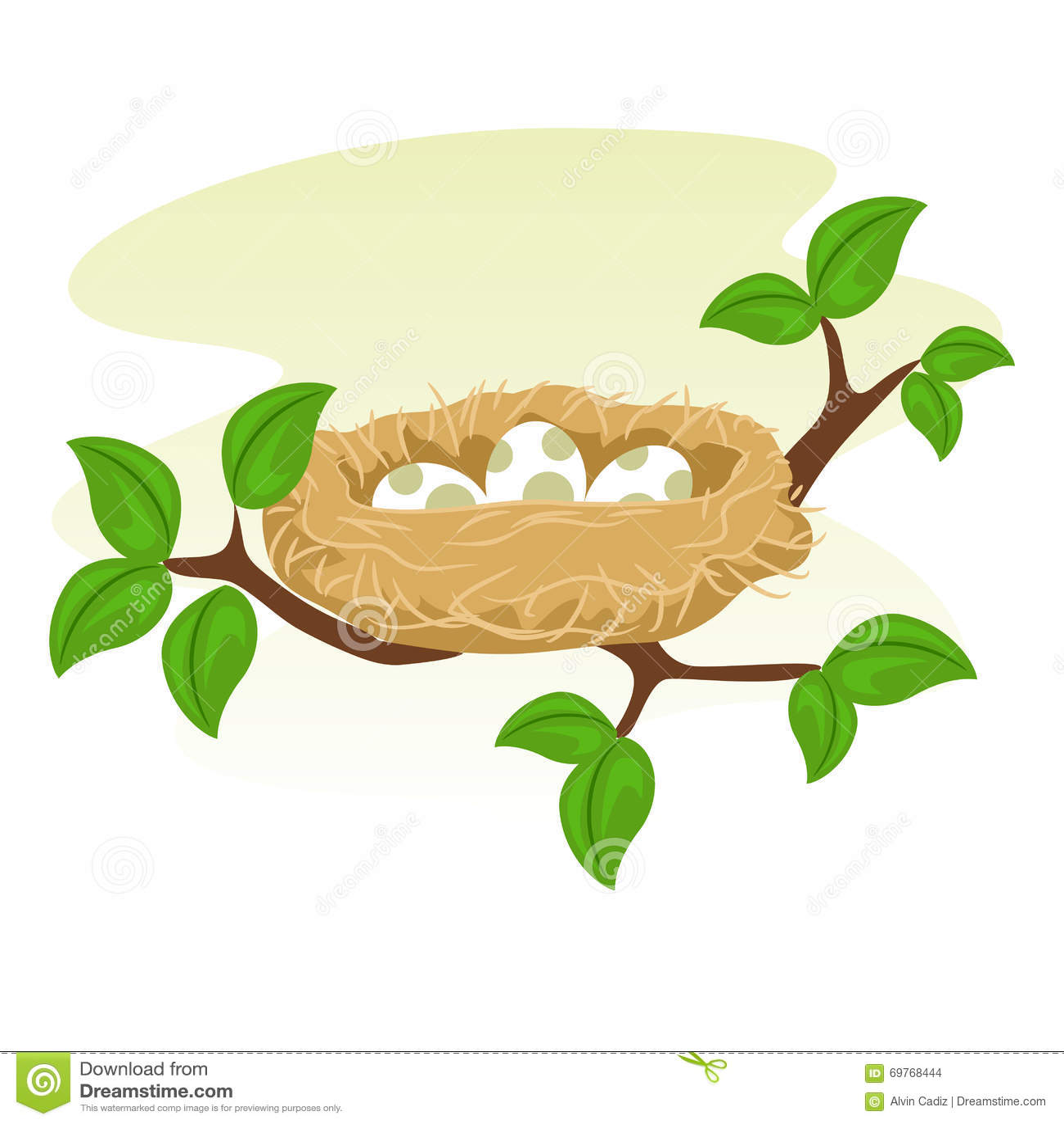 birds nest and egg on tree branch stock vector image free cartoon bird clipart cartoon bird clip art transparent