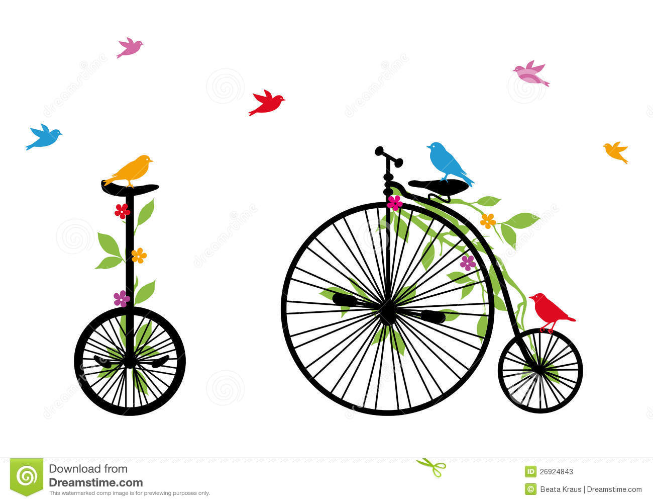 Bicycle illustration retro - photo#11