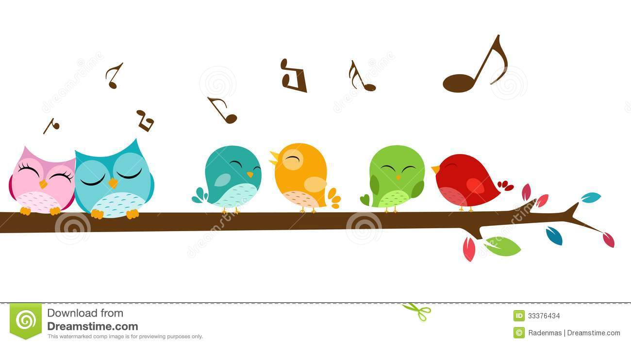 Birds Singing On The Branch Stock Images - Image: 33376434