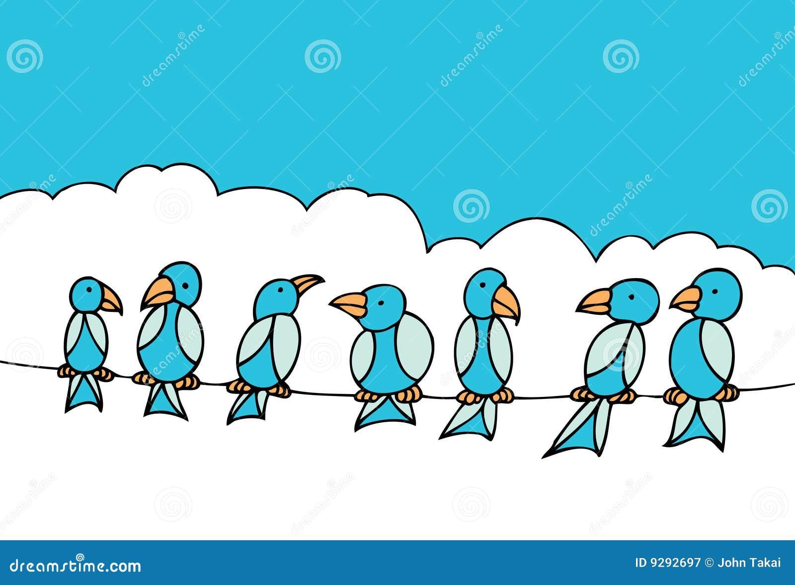 Nice Cartoon Birds On A Wire Crest - Wiring Diagram Ideas - blogitia.com