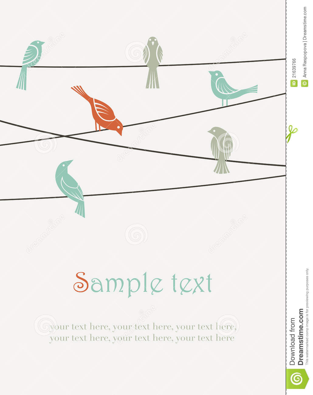Birds On Wires Stock Vector Illustration Of Flock Conversation Eagle Tree Wiring Diagram