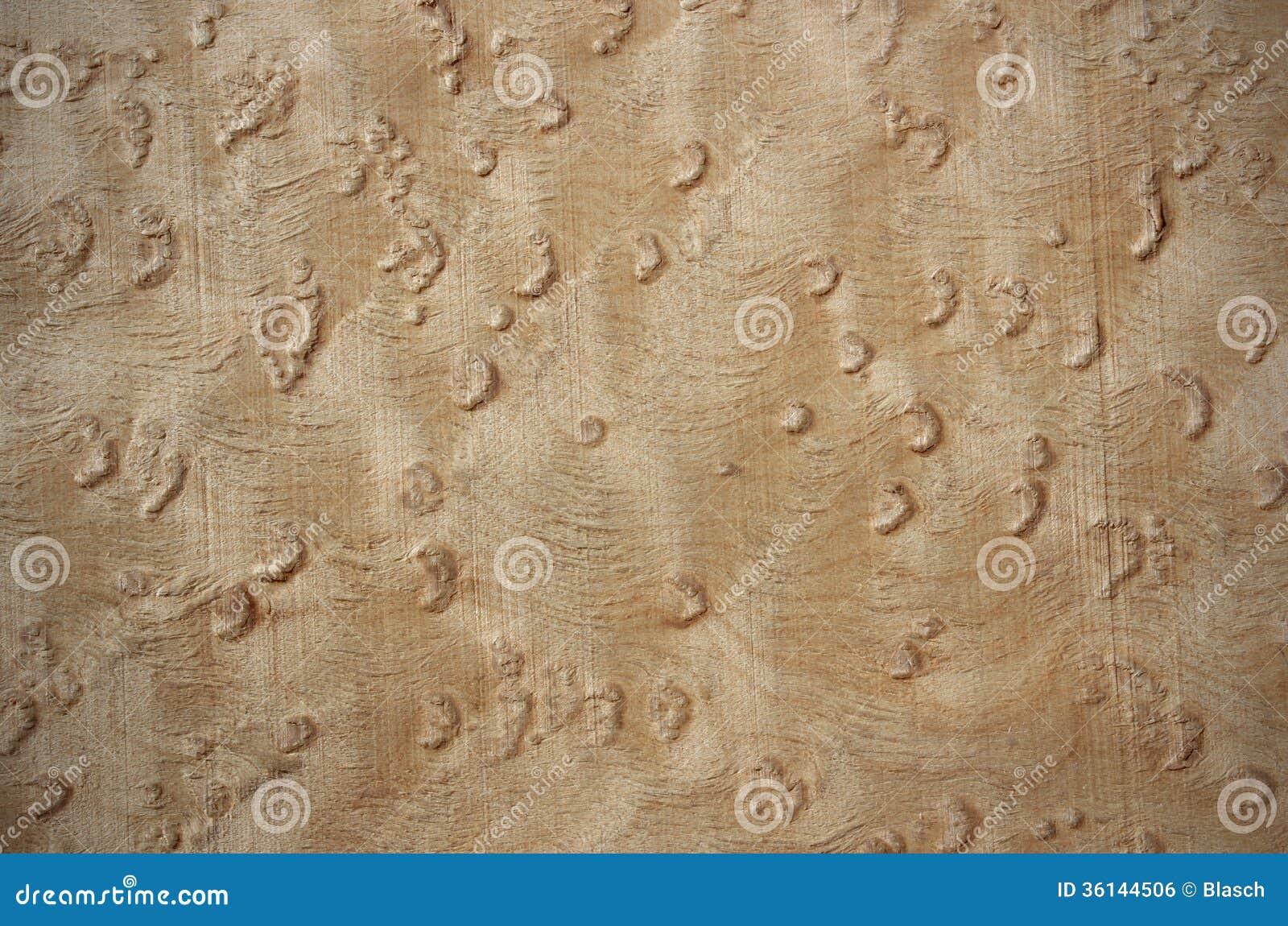 Birdseye maple veneer wood surface stock photo image