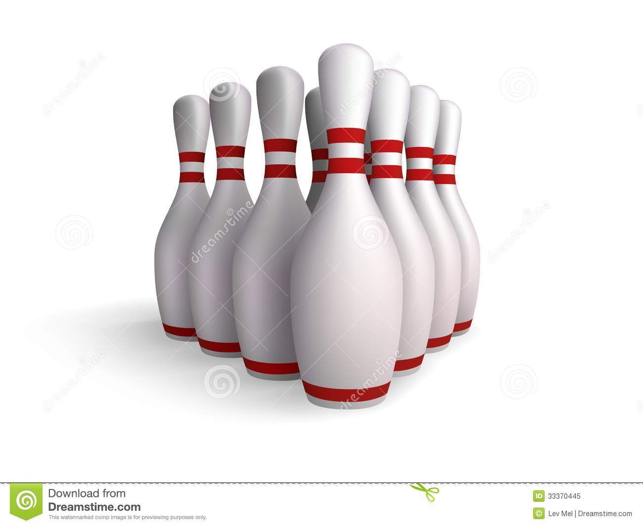 Birilli di bowling illustrazione vettoriale immagine di for Decoration quille de bowling