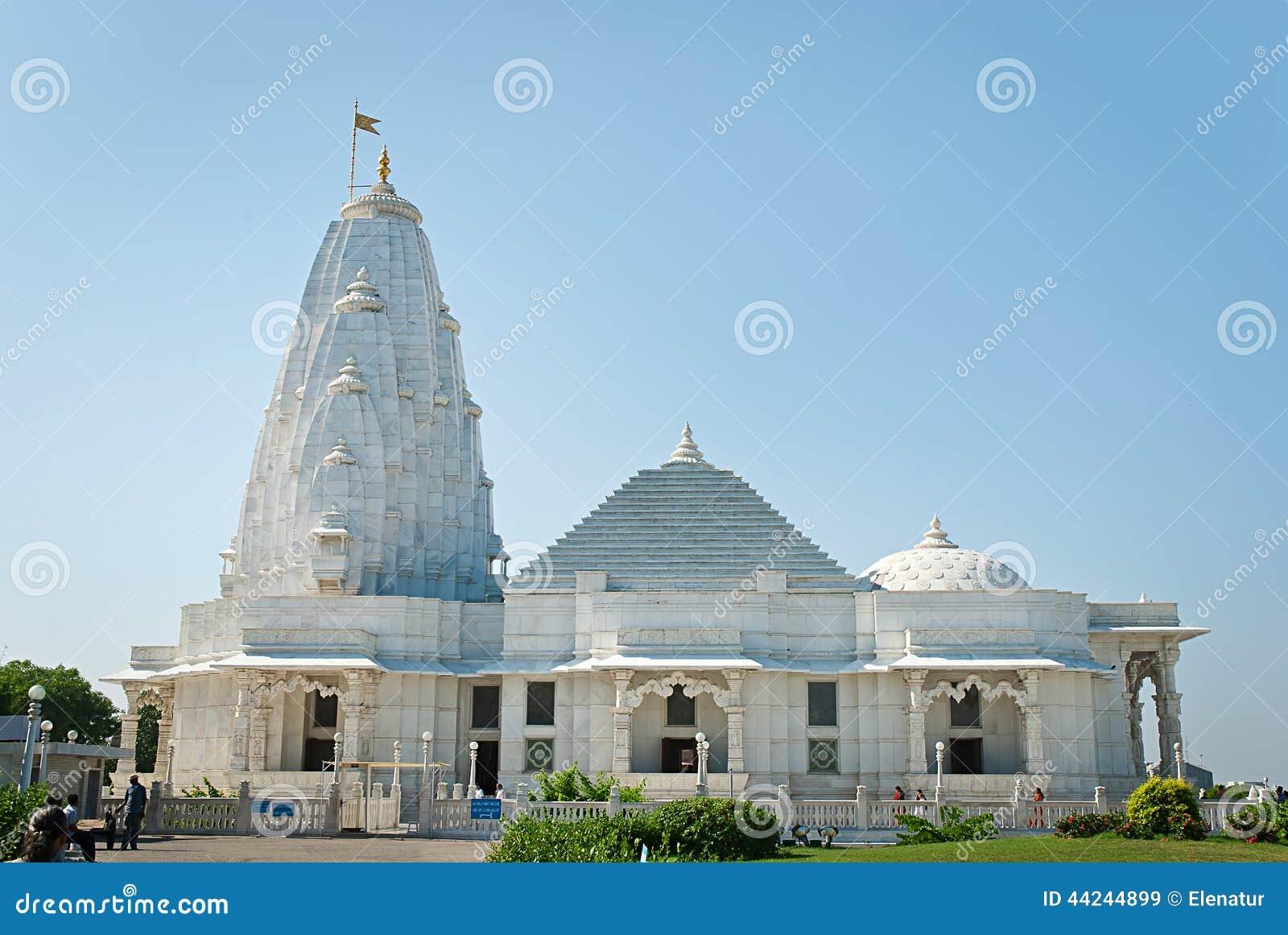 Birla Mandir (Laxmi Narayan) es un templo hindú en Jaipur, la India