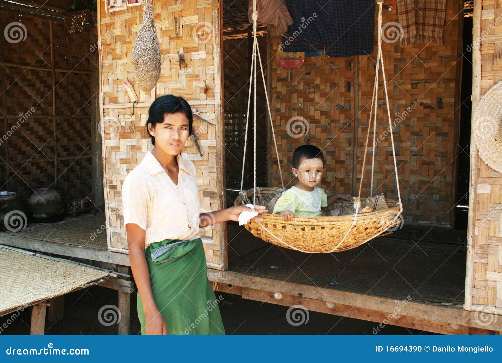 Birmanische Familie