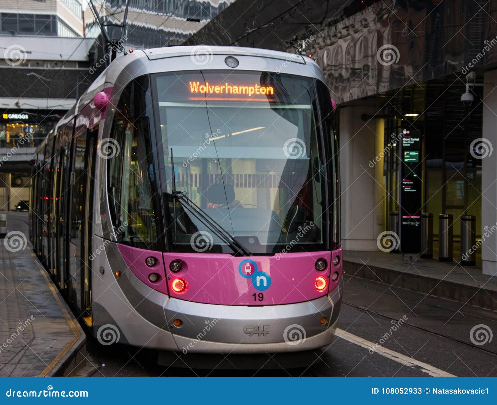 Birmingham aan de tram van Wolverhampton