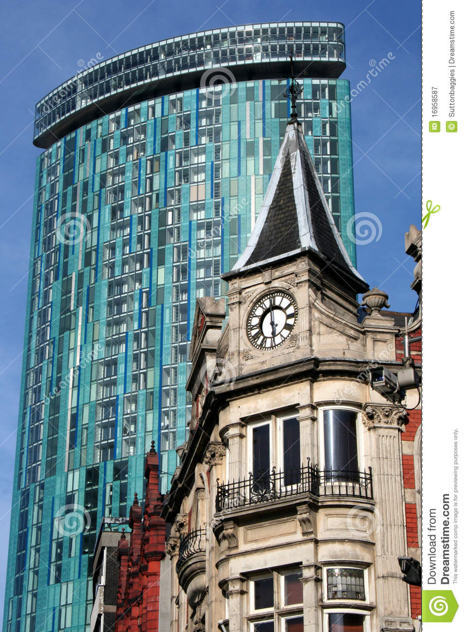 Birmingham Architecture Modern And Victorian Stock Image