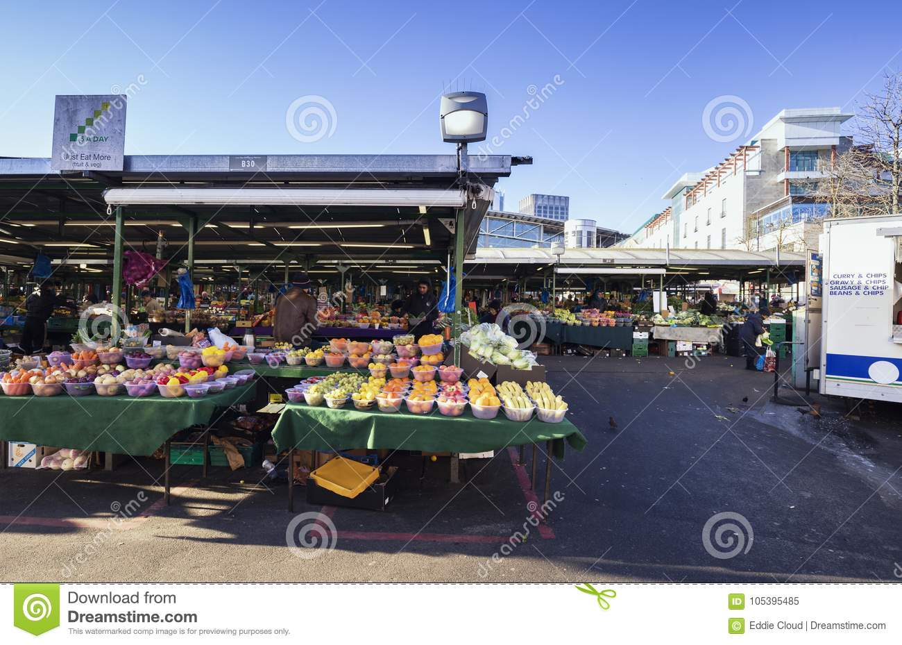 Bullring Market In Birmingham City Centre United Kingdom