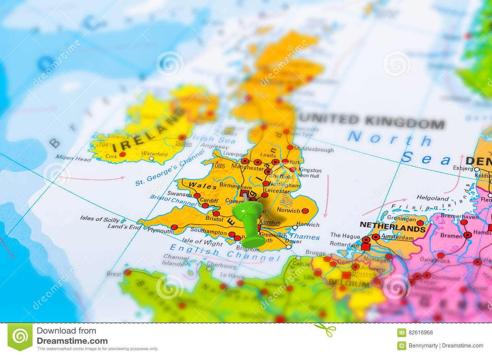 Map Of Uk In Europe.Birmingham Uk Map Stock Photo Image Of Europe Landmark 82616968