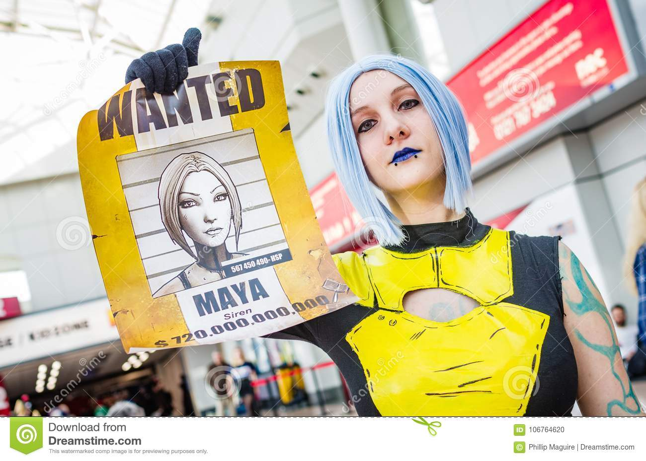 Cosplayer Dressed As Maya From Borderlands 2 Editorial Image