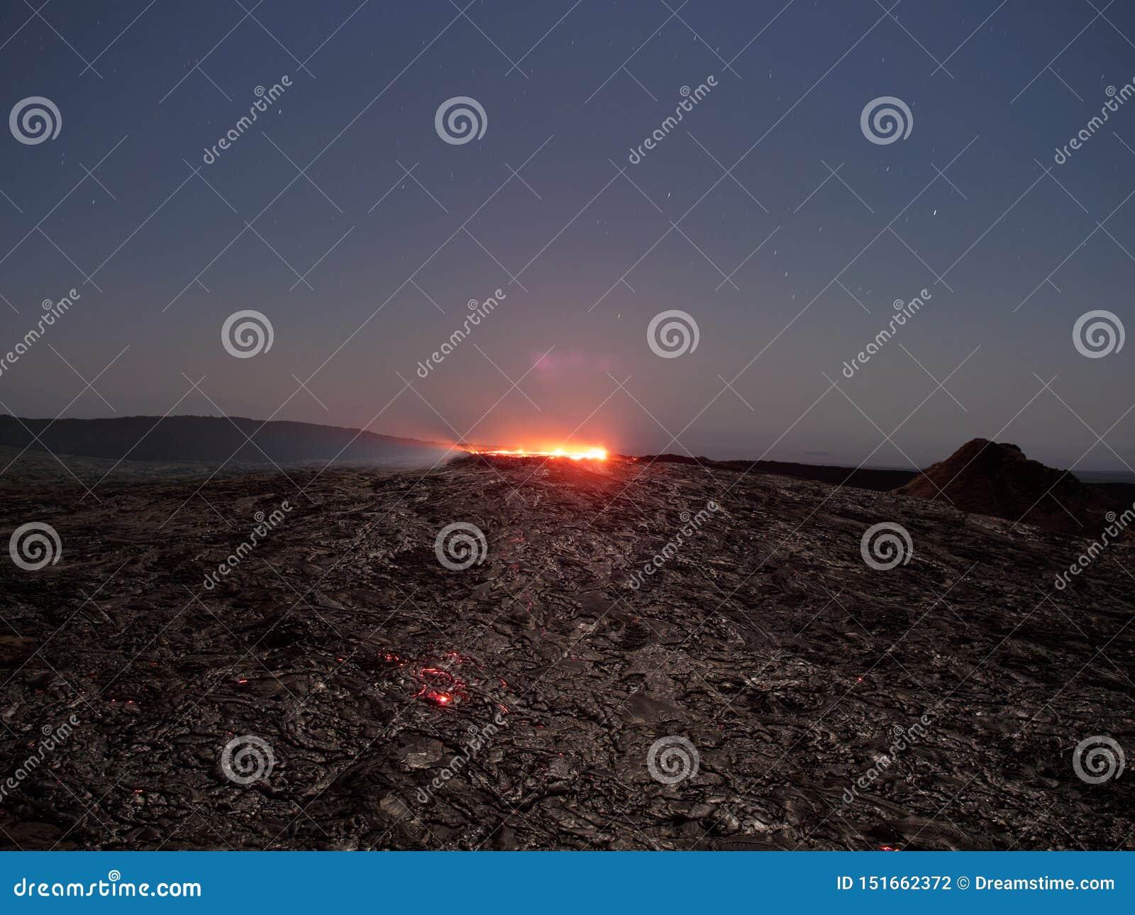 Birra inglese di Erta del lago Lave alla notte