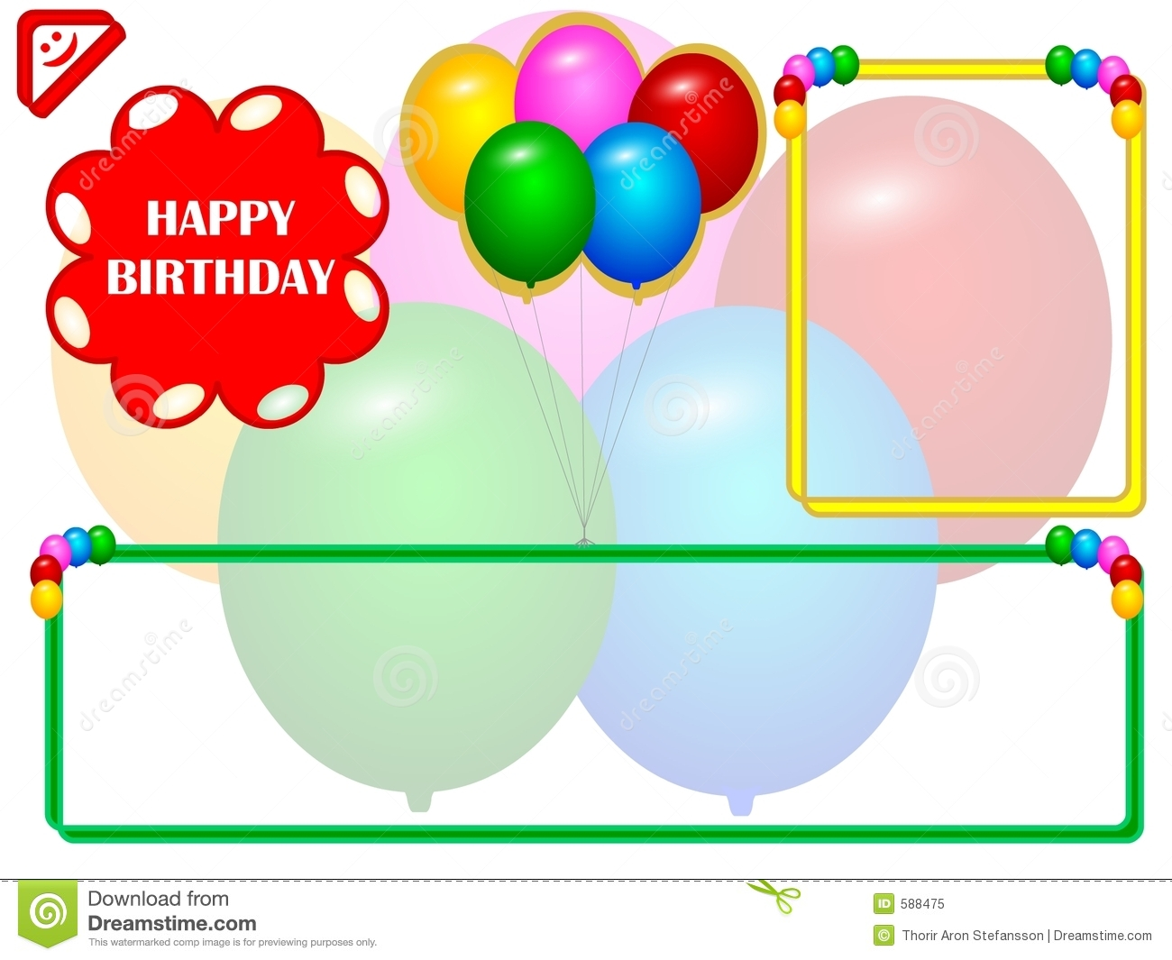Birthday empty cards image collections birthday cake decoration ideas blank birthday cards birtday card stock illustration illustration of holiday 588475 birtday card searchgroupfo bookmarktalkfo Choice Image