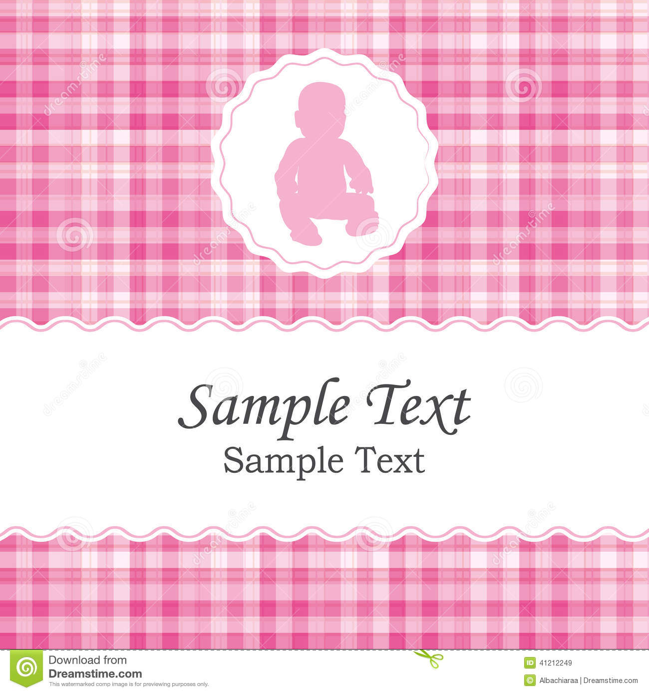 baby girl announcement template free