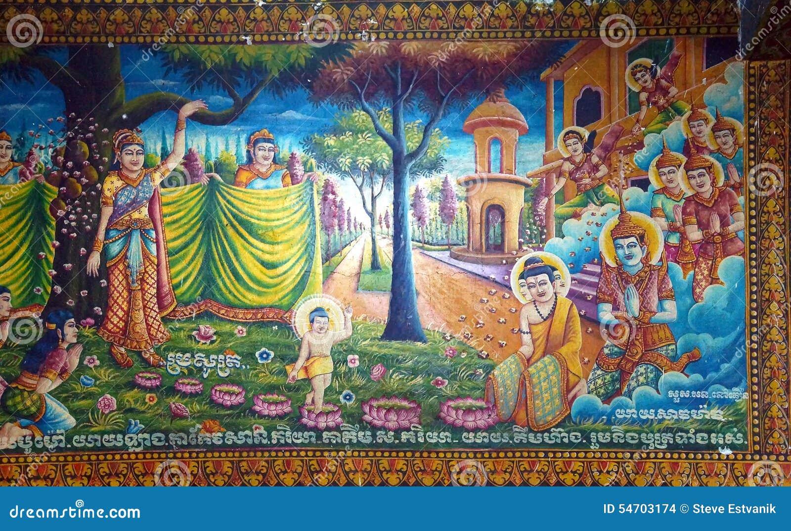 Birth Of The Buddha Stock Photo - Image: 54703174