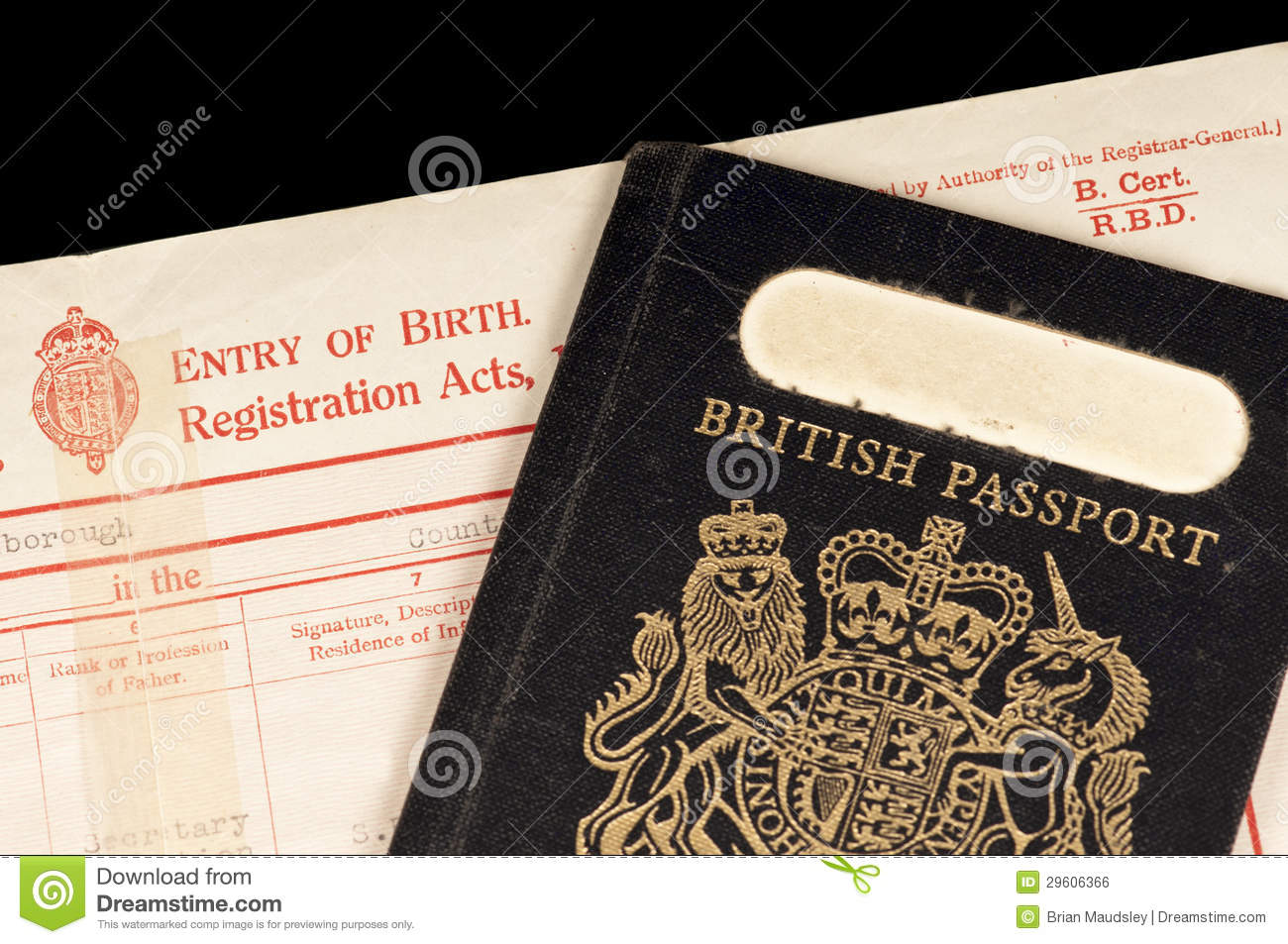 Birth certificate and passport stock photo image of black birth certificate and passport aiddatafo Images