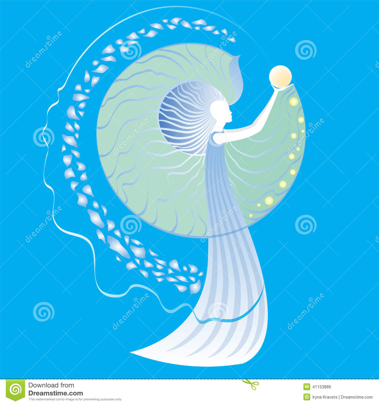 Birth Pearls In Shell Stock Vector - Image: 41153886