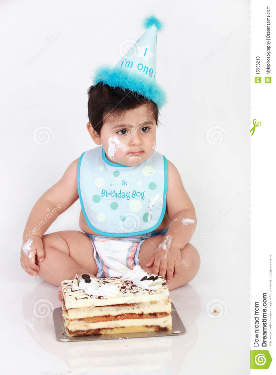 Birthday Baby Boy Stock Photo Image Of Polka Happy