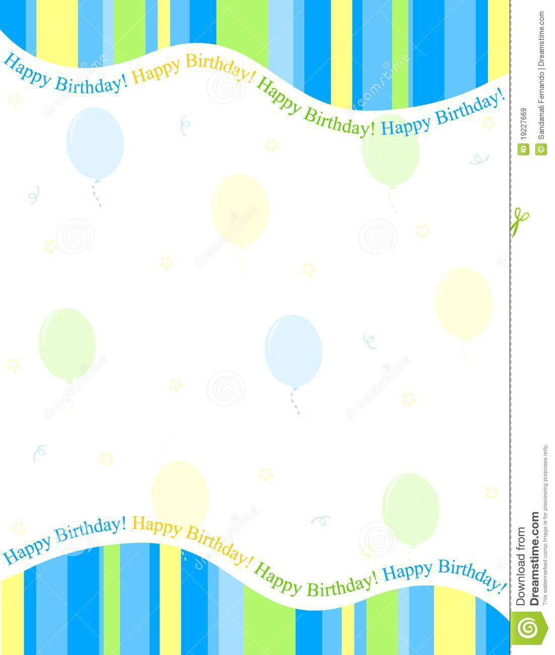 Birthday Background Royalty Free Stock Images - Image: 19227669