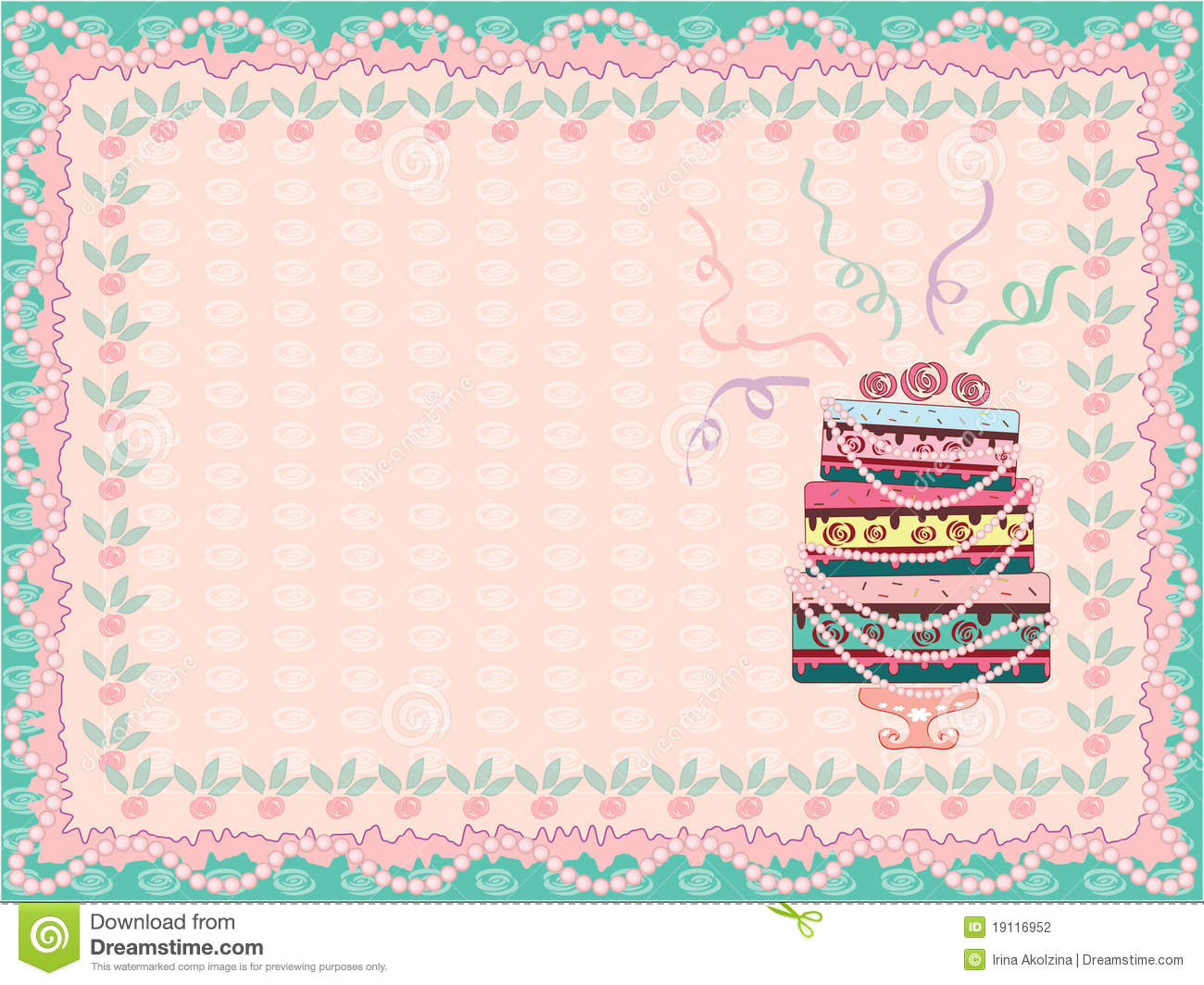 Birthday Background With Cake Stock Photography Image
