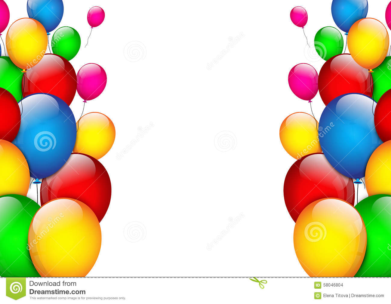 birthday background with color balloons stock vector image 58046804