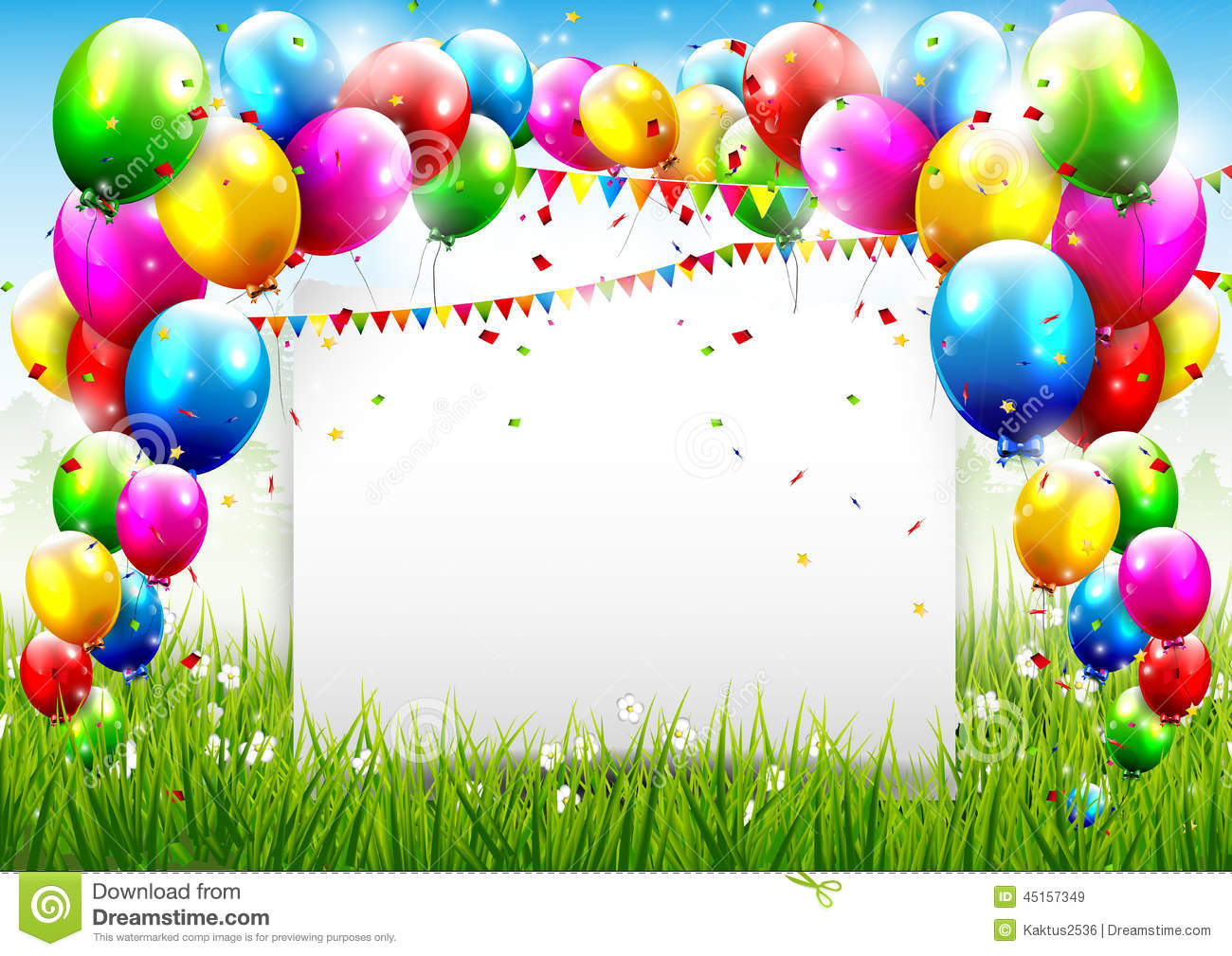 Birthday Background Colorful Place Textn Picture In Bg Format