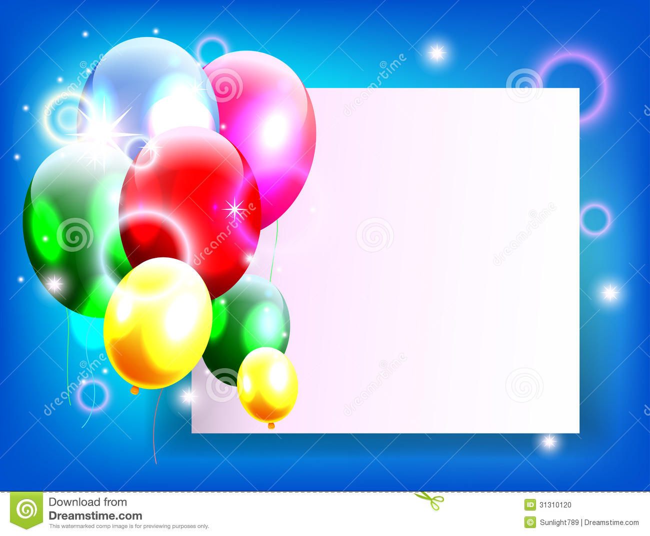 Birthday Background With Place For Text Stock Photo ...