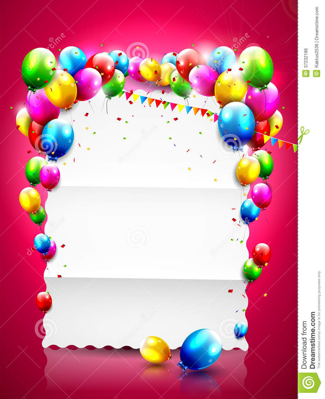 Birthday background stock vector. Illustration of bright - 37232186