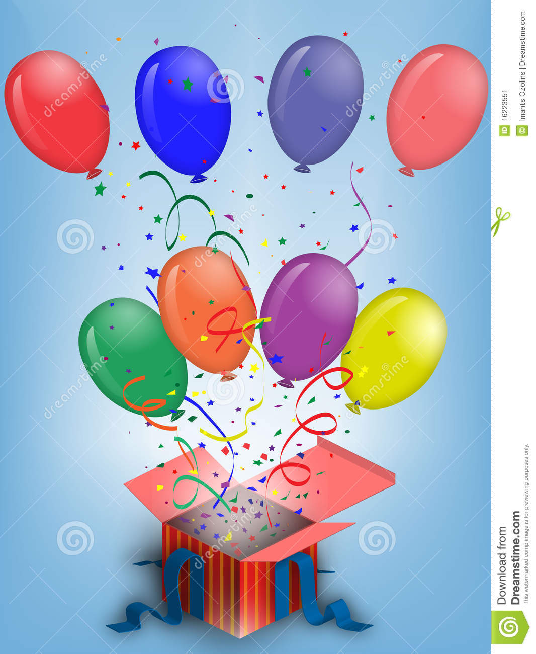 Birthday balloons stock image image 16223551