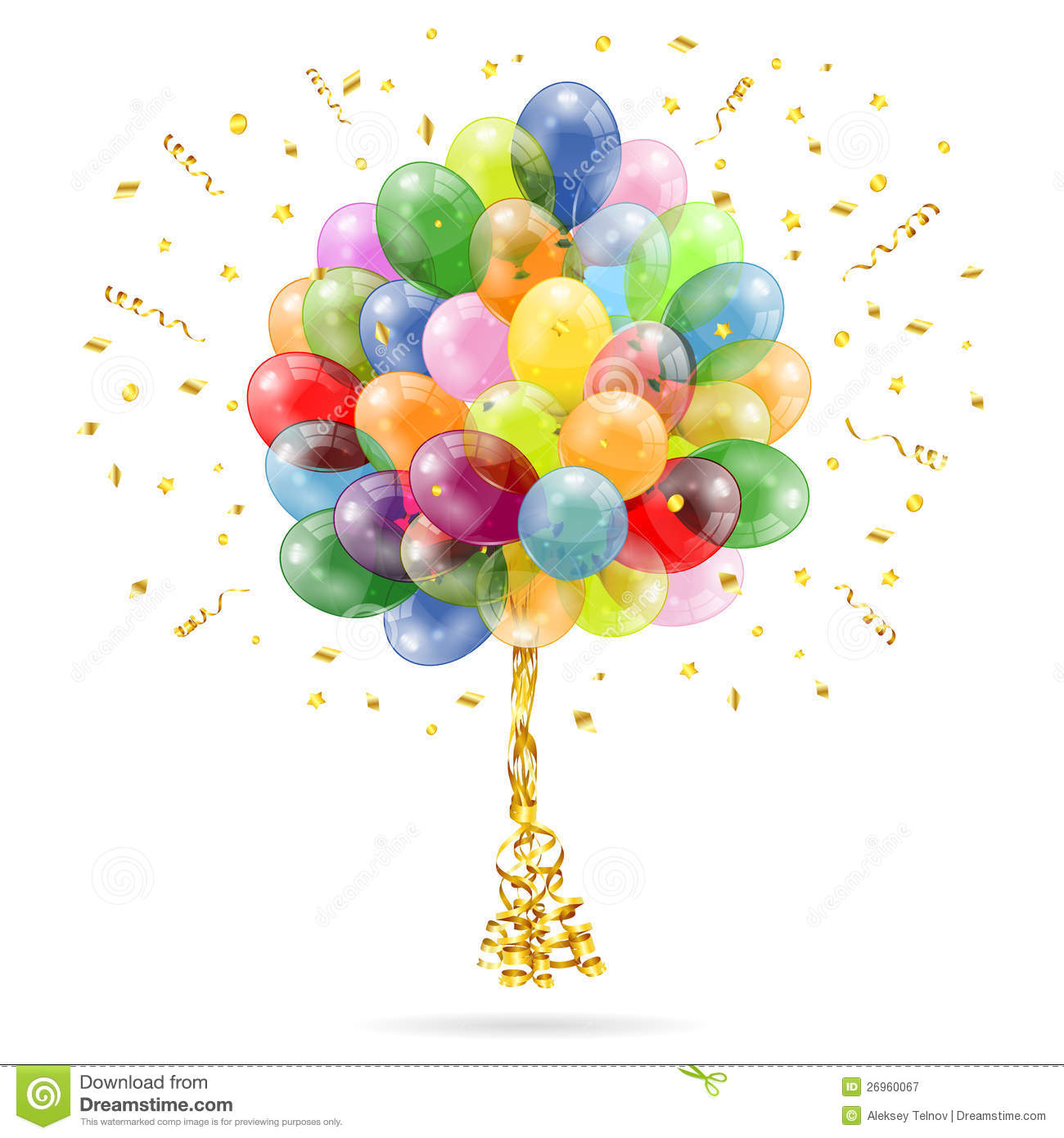 Birthday Balloons Royalty Free Stock Photography - Image: 26960067
