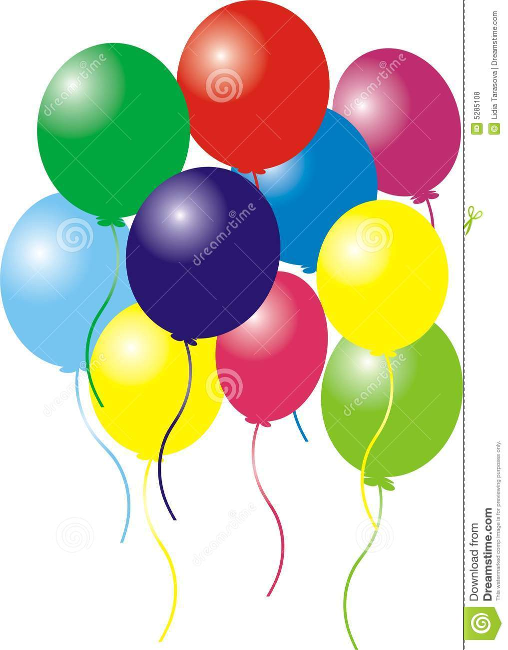 Birthday Balloons Royalty Free Stock Photos Image 5285108