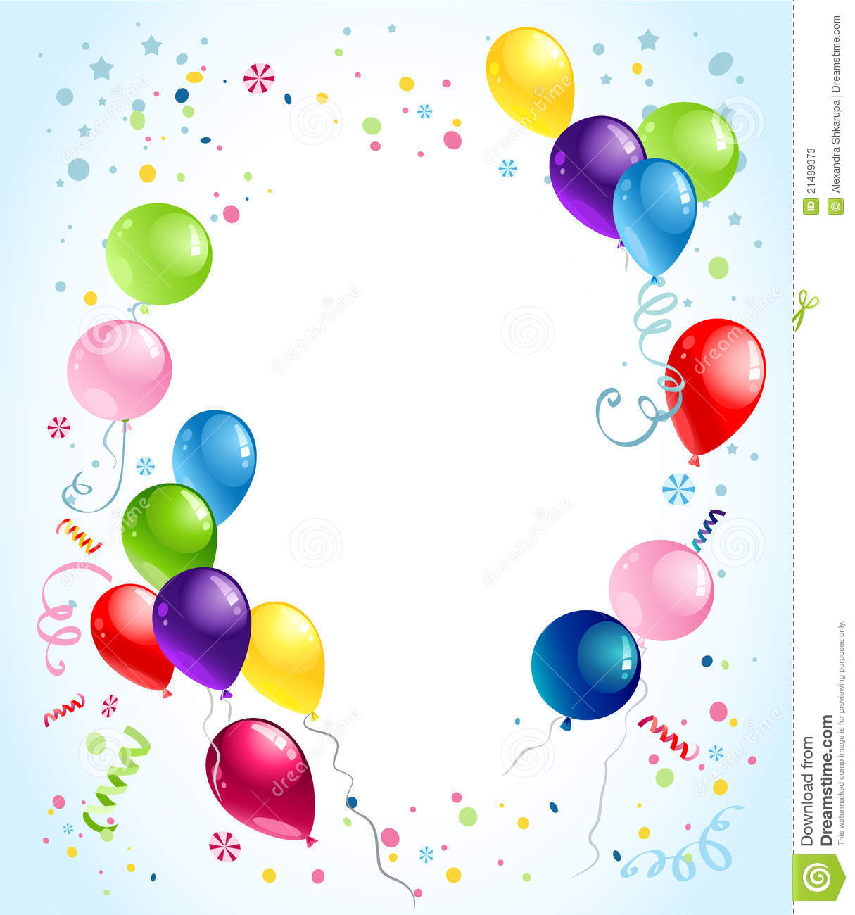 Birthday Balloons Background Stock Photos - Image: 21489373