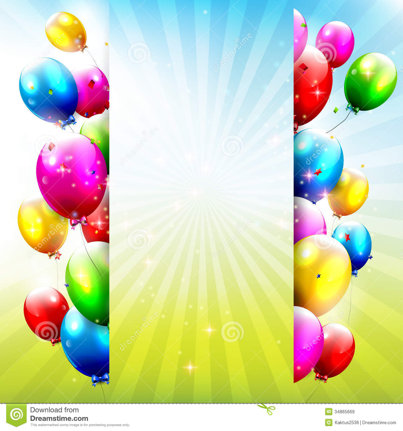 Birthday Balloons Royalty Free Stock Images - Image: 34865669
