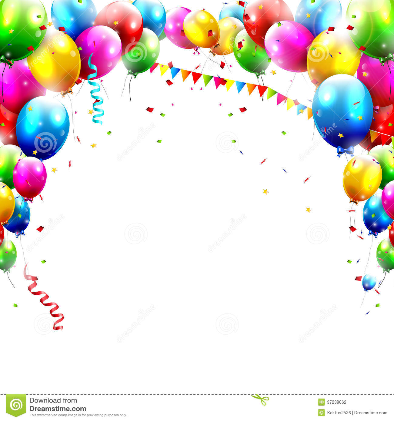 Birthday balloons stock vector illustration of joyful for Geburtstagsbilder 18