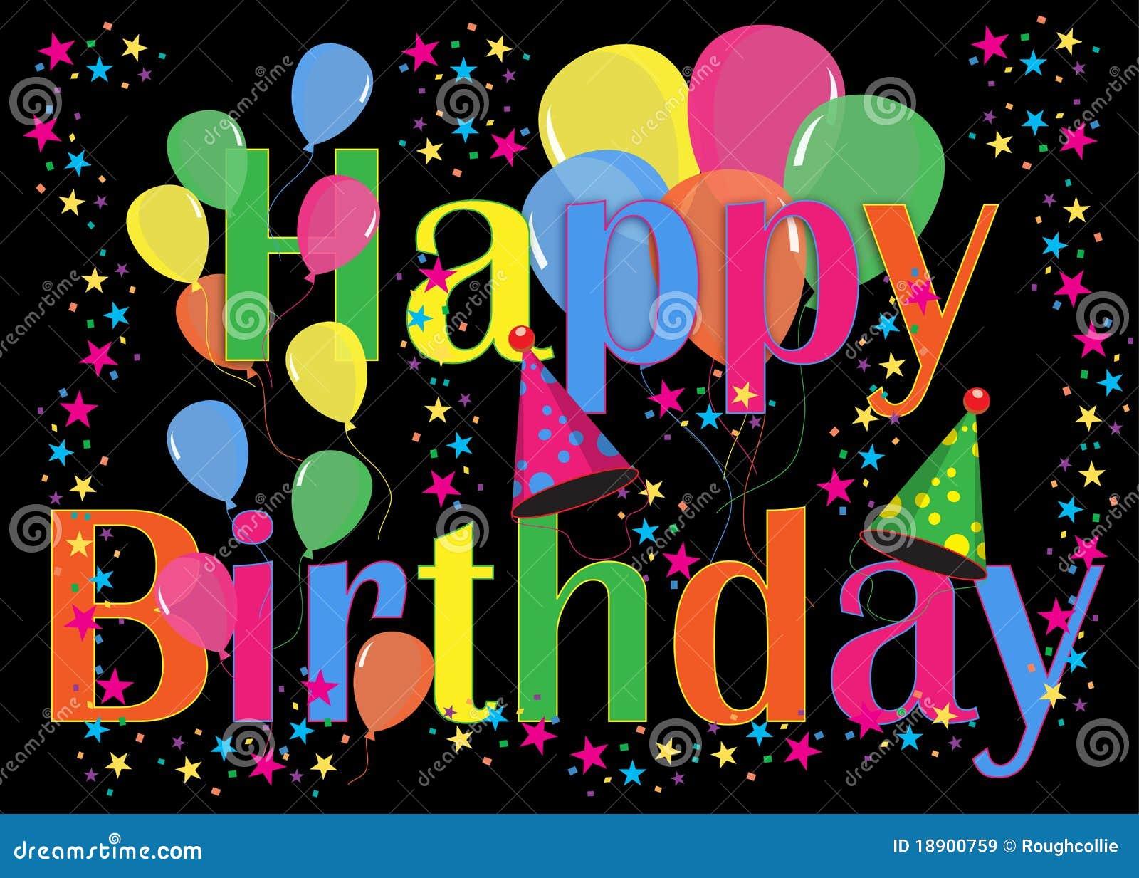 Birthday Balloons Party Background Royalty Free Illustration