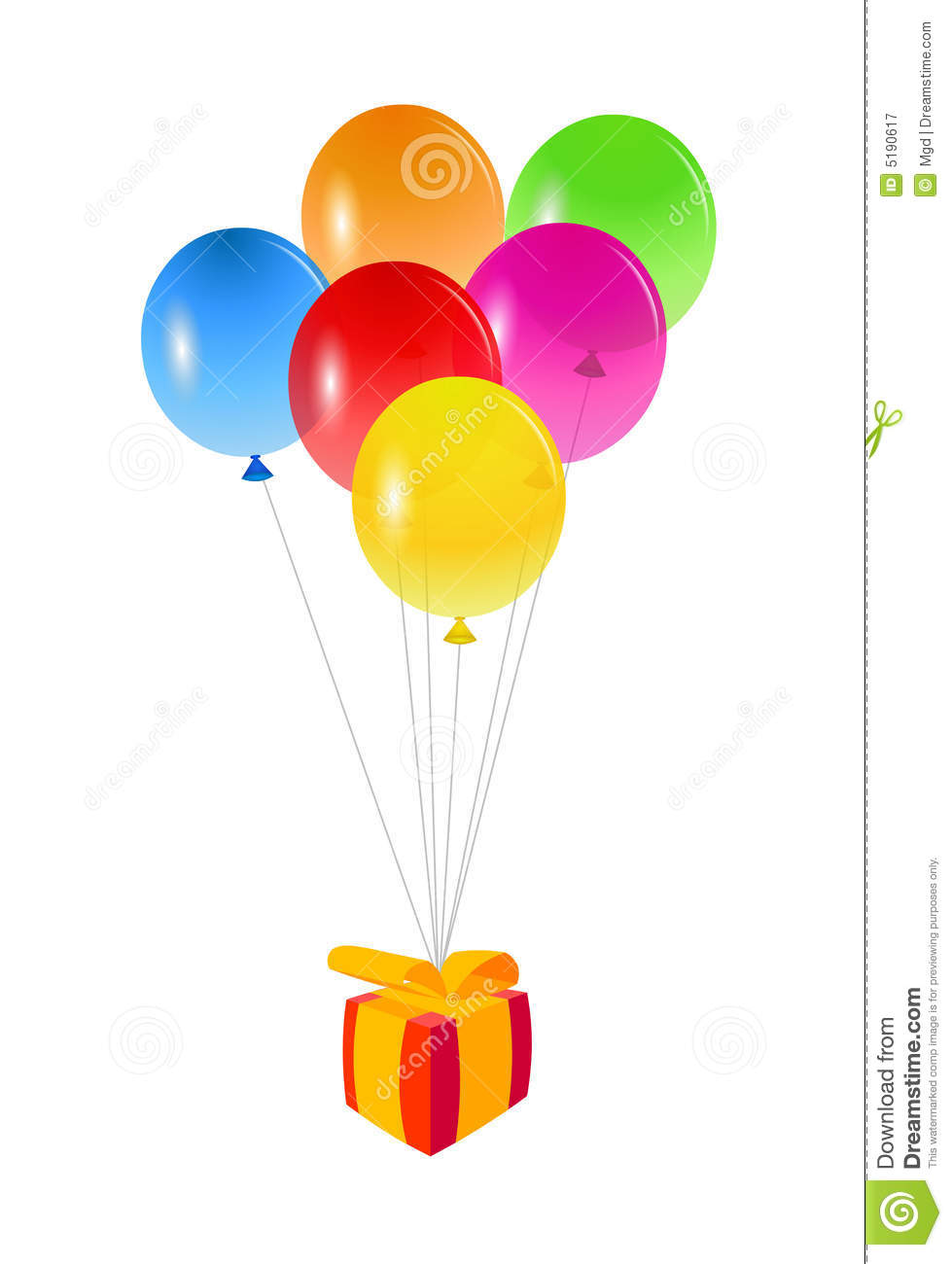Birthday Balloons And Present Royalty Free Stock Photography - Image ...