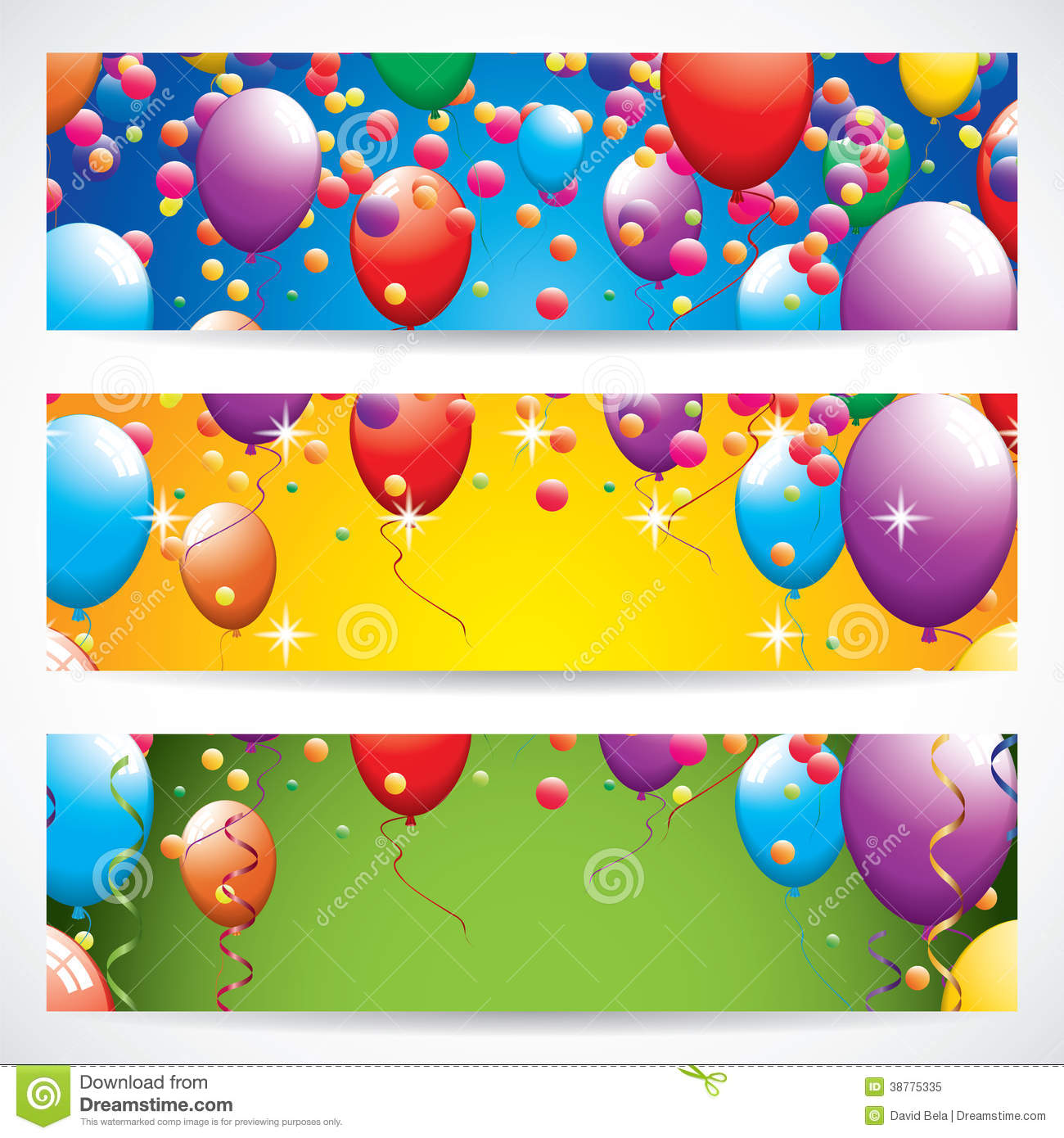 birthday banners stock vector  image: 38775335