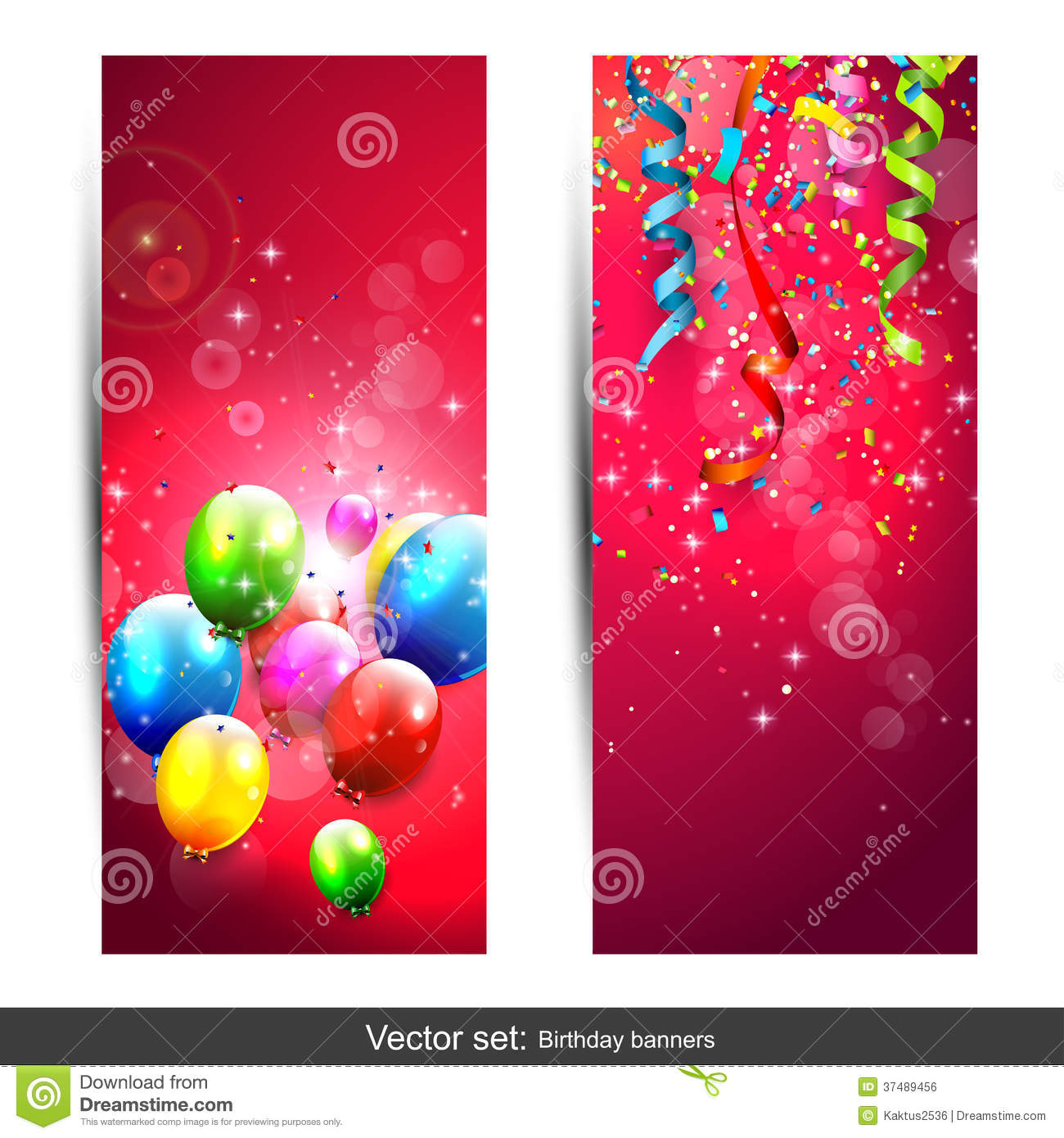 Birthday banners stock vector. Illustration of carnival ...
