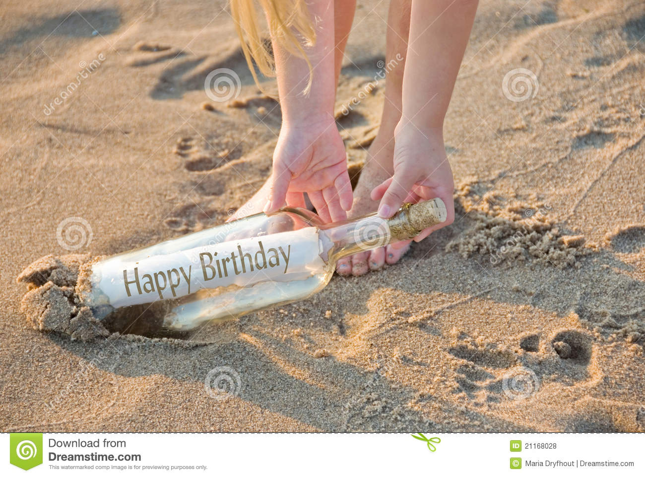 Birthday beach bottle stock photo. Image of young e4a13c1b3663