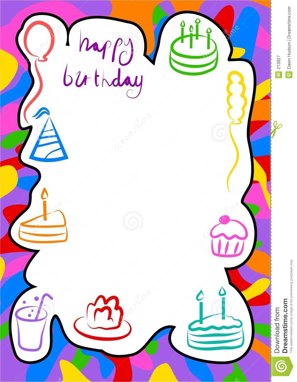 birthday border stock vector illustration of abstract 213827