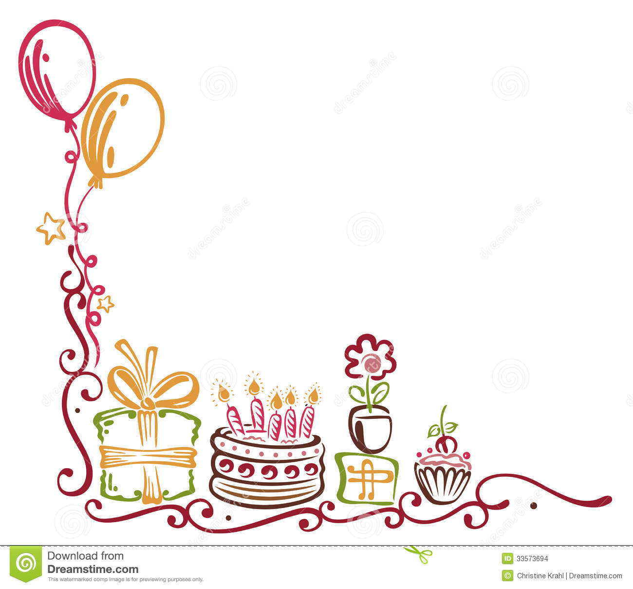 Birthday Border Stock Images - Image: 33573694