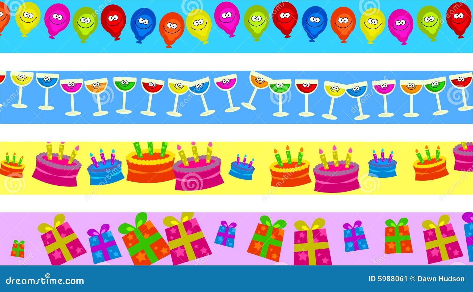 Birthday Borders Stock Illustration Illustration Of