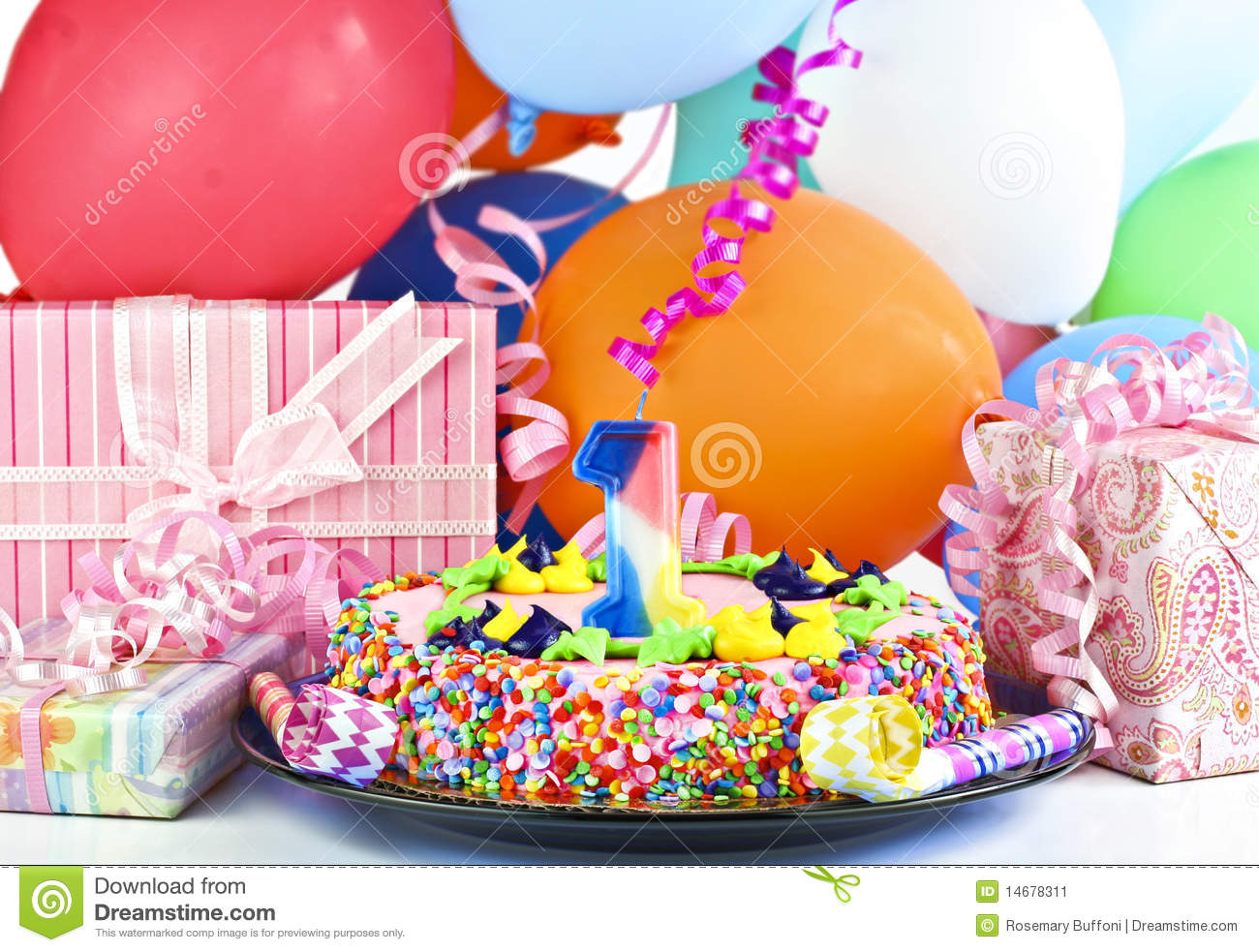 Birthday Cake For 1 Year Old Stock Image - Image: 14678311