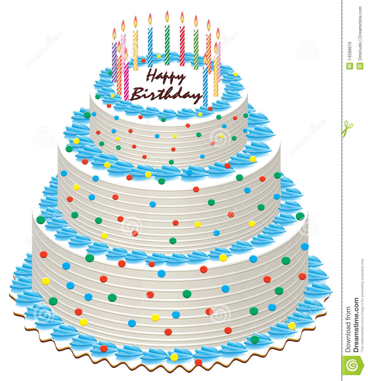 Birthday Cake Stock Vector. Illustration Of Color