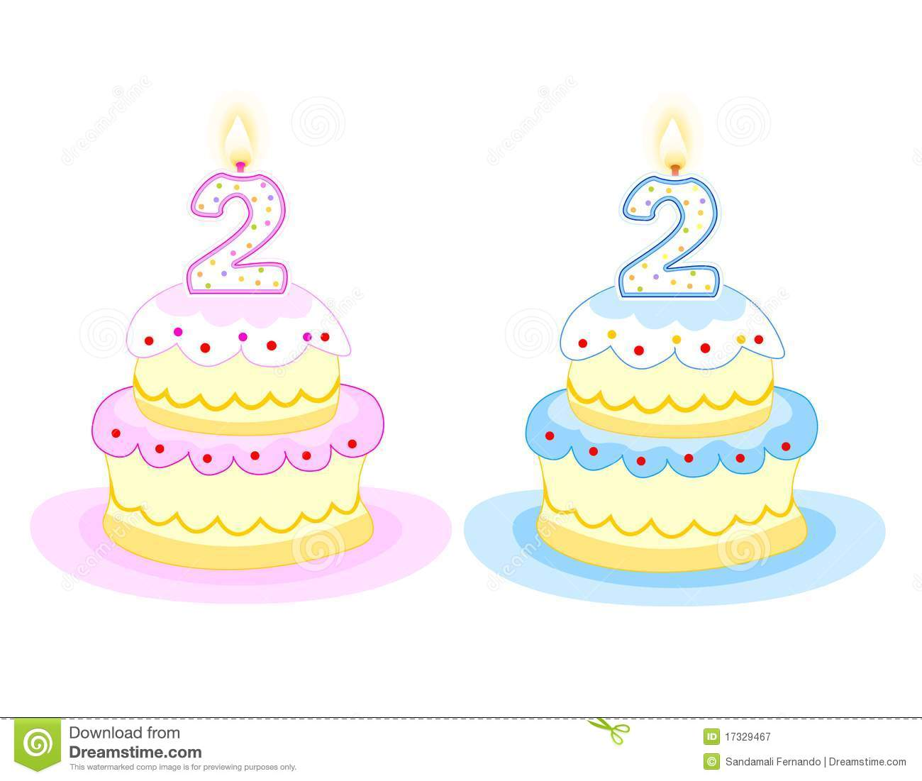 Birthday Cake Stock Vector Illustration Of Anniversary