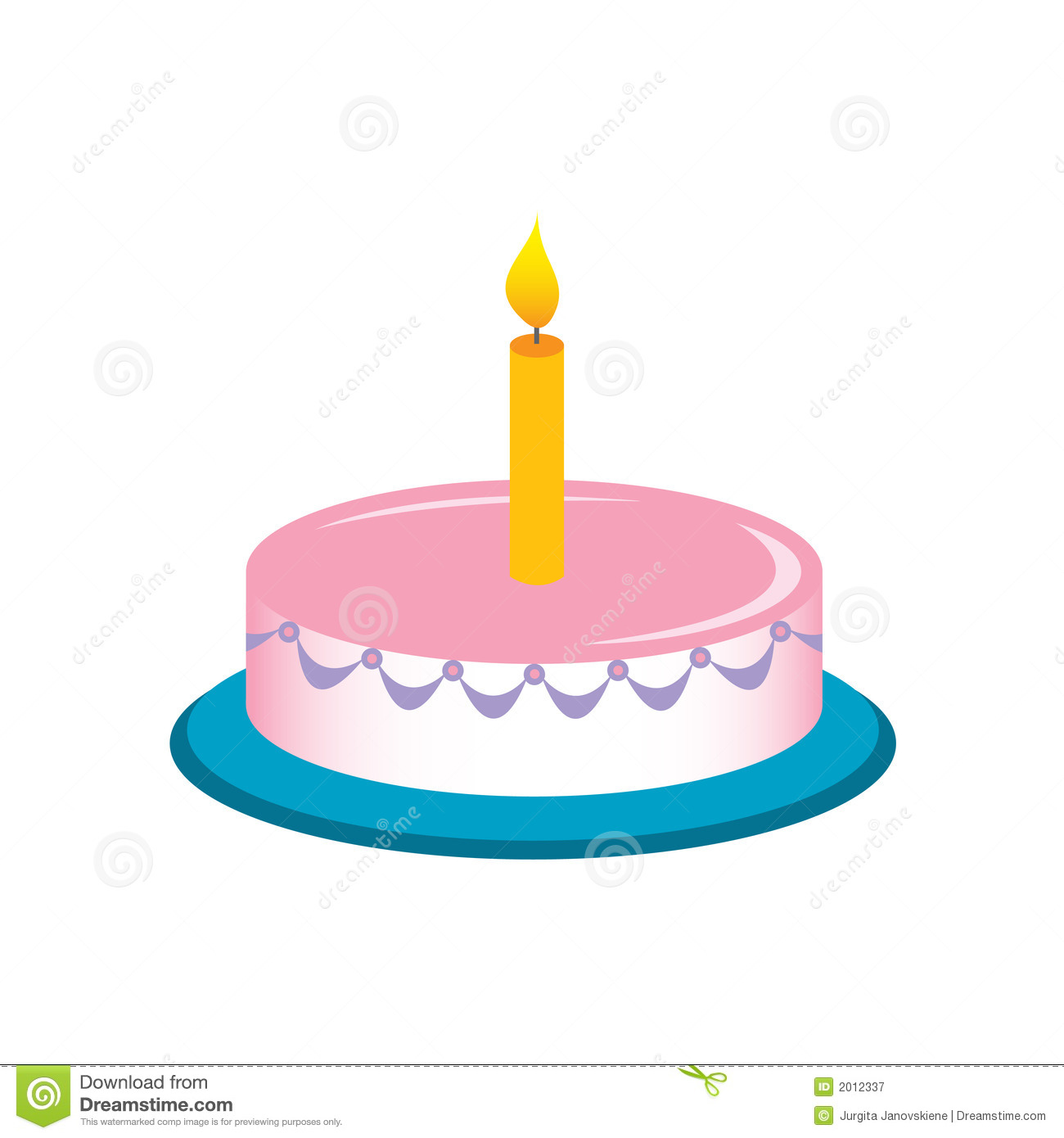 Birthday cake stock vector. Image of cakes, candle ...
