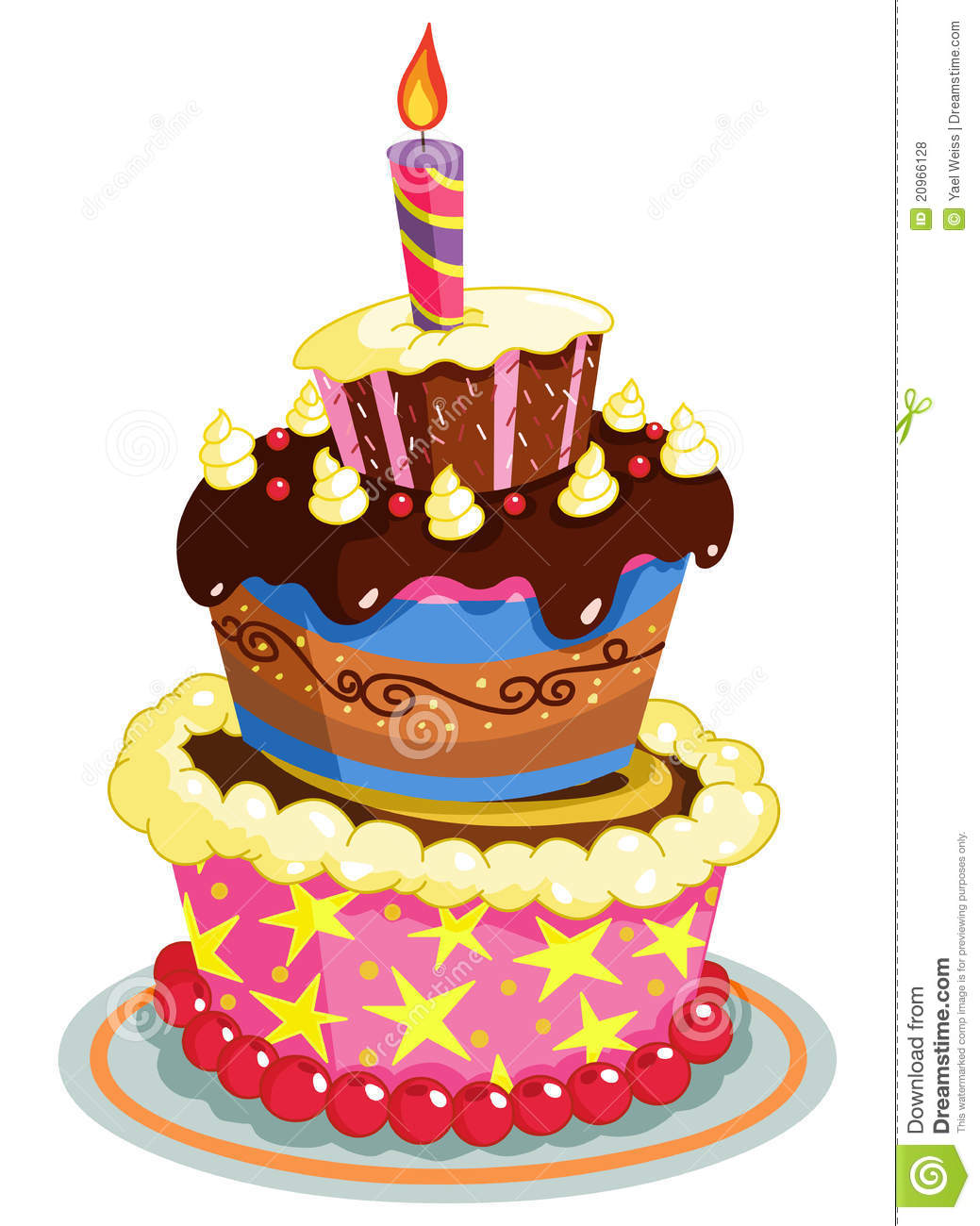 Birthday Cake Royalty Free Stock Photos - Image: 20966128
