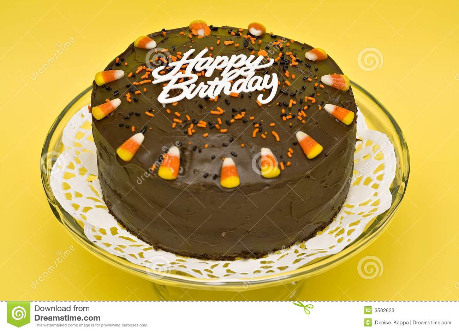 Birthday Cake Stock Image Image Of Yellow Sweets Food 3502623